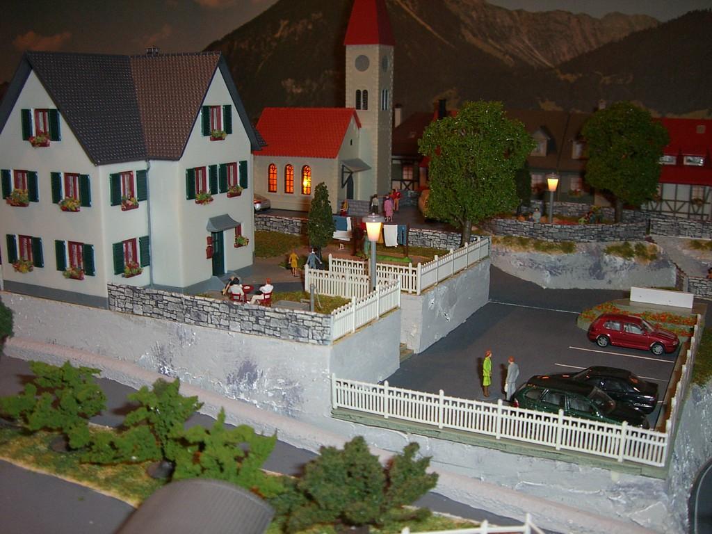 Eglise et immeubles