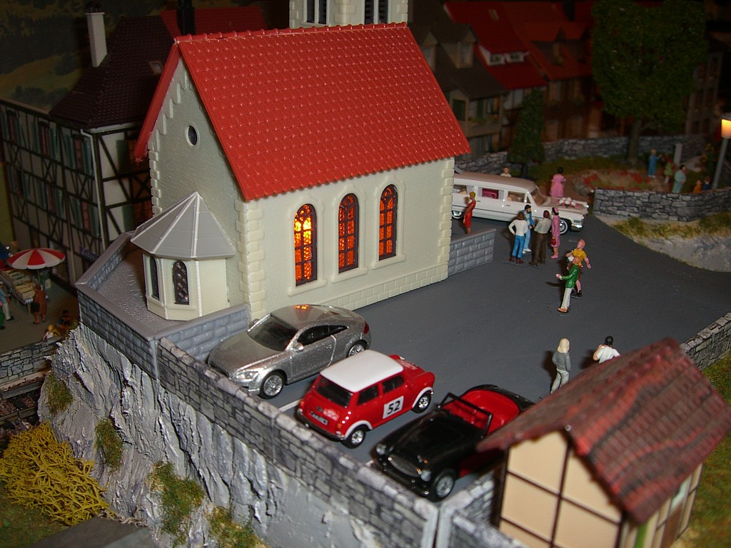 Eglise et parking