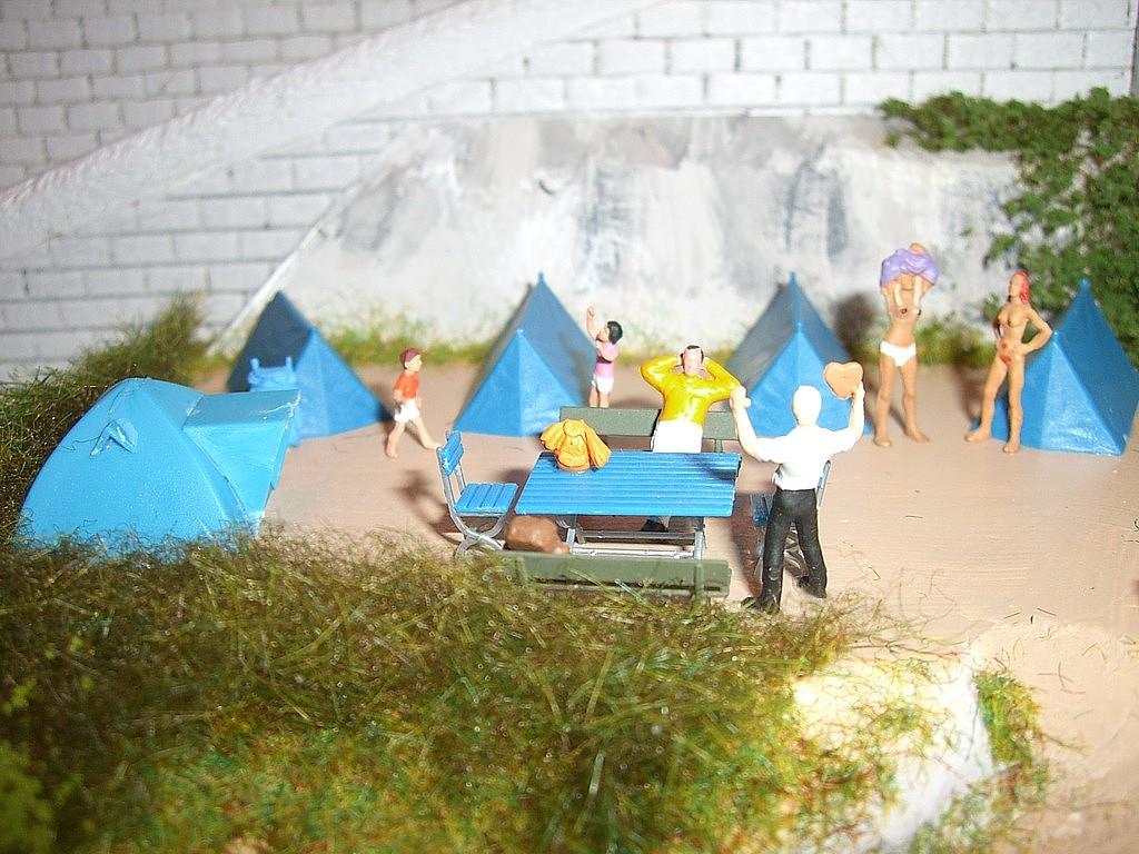 Camping et ruines